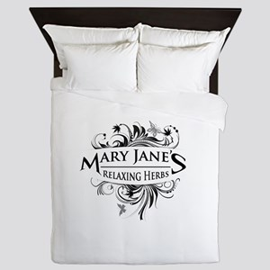 Mary Janes Relaxing Herbs Queen Duvet