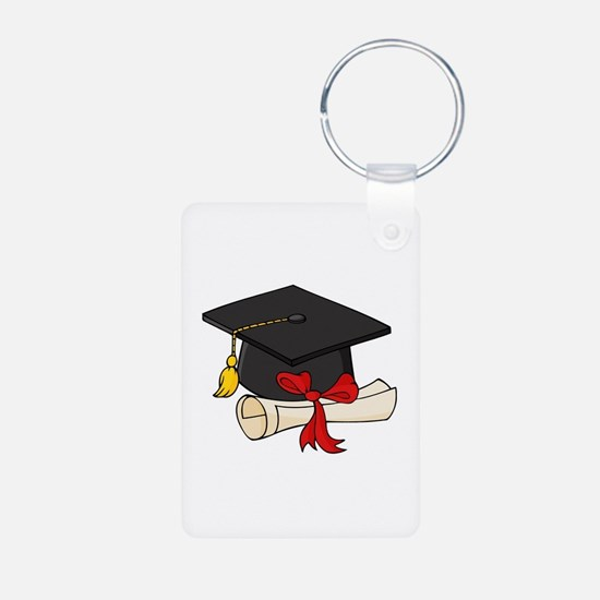 Graduation Aluminum Photo Keychain