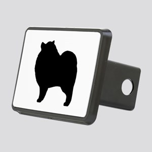 Keeshond Silhouette Rectangular Hitch Cover