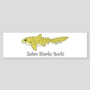 Zebra Shark Sticker (Bumper)