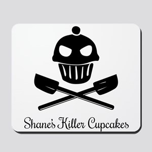 Cupcakes Skull and Crossed Spatulas Mousepad