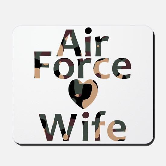 Air Force Wife Heart Camo Mousepad