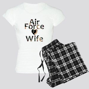 Air Force Wife Heart Camo Women's Light Pajamas