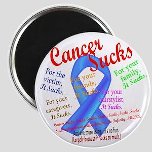 Cancer Sucks Blue Ribbon Magnet