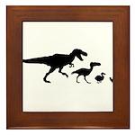 Dino Chicken Black Framed Tile