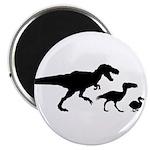 Dino Chicken Black Magnet