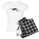 Dino Chicken Black Women's Light Pajamas