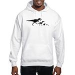 Dino Chicken Black Hooded Sweatshirt