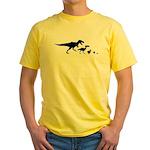 Dino Chicken Black Yellow T-Shirt