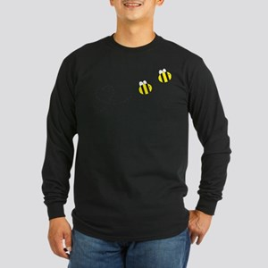 Bee in Love Long Sleeve Dark T-Shirt