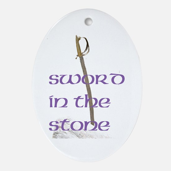 SWORD IN THE STONE™ Ornament (Oval)