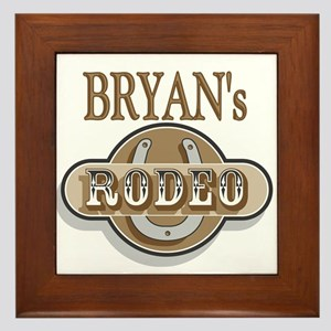 Bryan's Rodeo Personalized Framed Tile