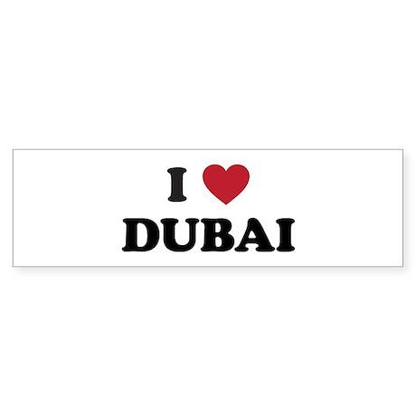 I love dubai sticker bumper