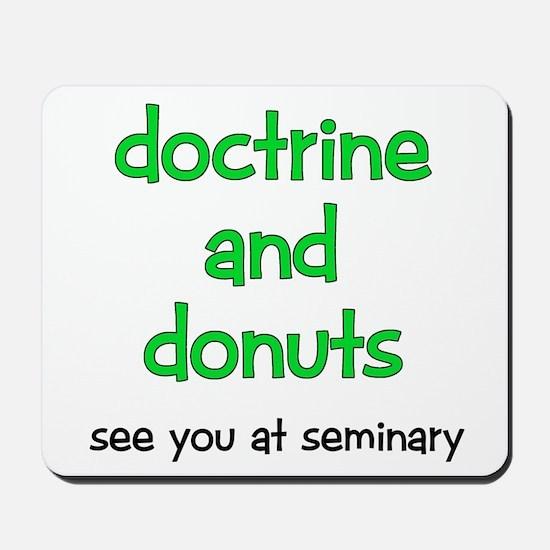 LDS Seminary Donuts Mousepad