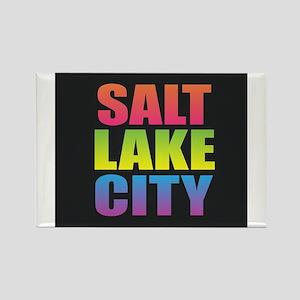 Salt Lake City Black Rainbow Magnets