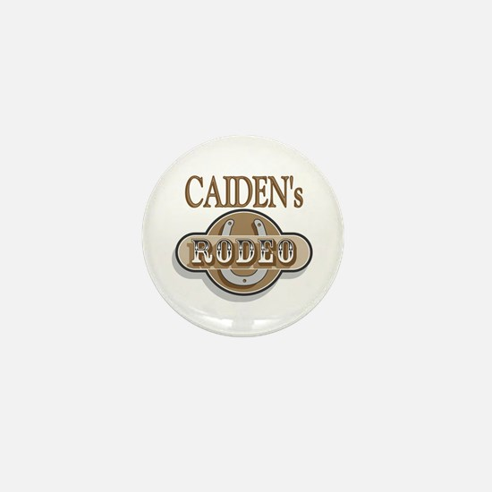 Caiden's Rodeo Personalized Mini Button