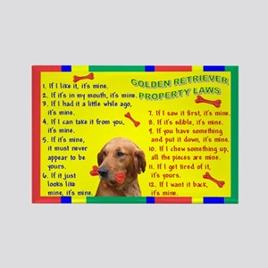Property Laws -GoldenRetriever Magnets