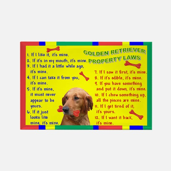 Property Laws -GoldenRetriever Magnets