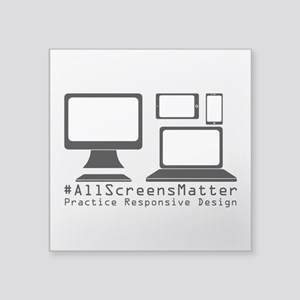 #allscreensmatter Sticker