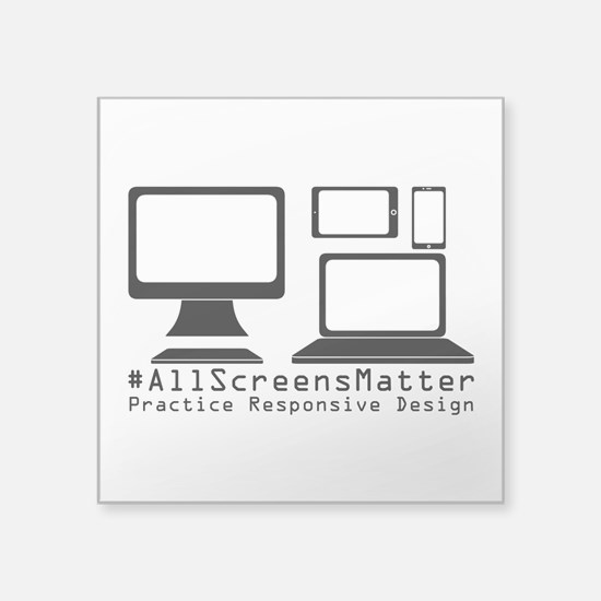 #allscreensmatter Sticker