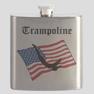 american trampoline gymnast Flask
