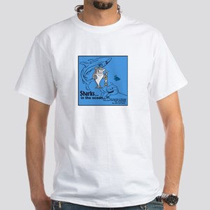 Just for fun, Shark White T-Shirt