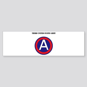 Third United States Army with Text Sticker (Bumper