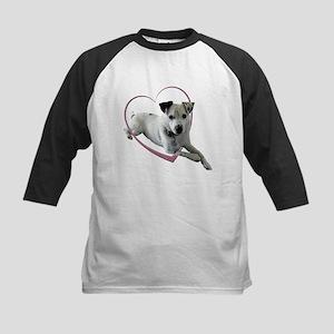 Love Jack Russell Dog Kids Baseball Jersey