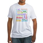 Colorful Cancer Survivor Fitted T-Shirt
