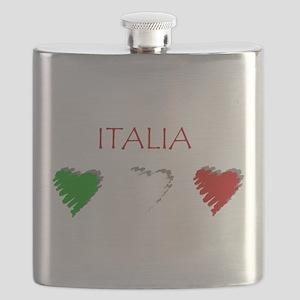 Italia Hearts Flask