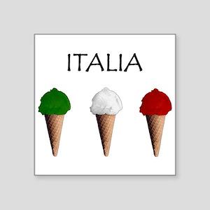 "Gelati Italiani Square Sticker 3"" x 3"""