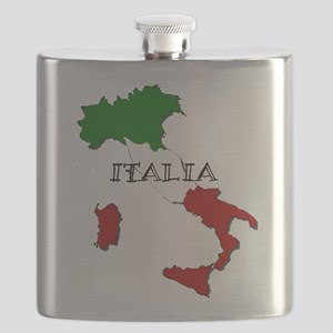 Italy Flag Map Flask