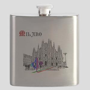 Milano Milan Italy Flask