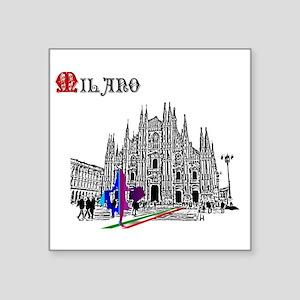 "Milano Milan Italy Square Sticker 3"" x 3"""