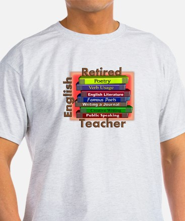 Retired English Teacher Book Stack.PNG T-Shirt
