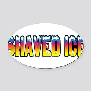 Shaved Ice Oval Car Magnet