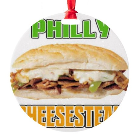 Philly Cheesesteak Round Ornament