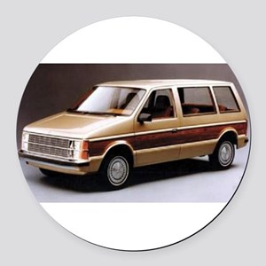 1984 Dodge Caravan Round Car Magnet