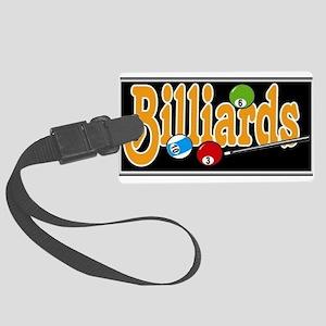 Billiards Large Luggage Tag