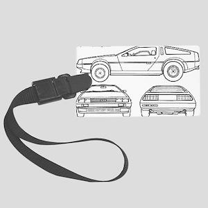 DeLorean Large Luggage Tag