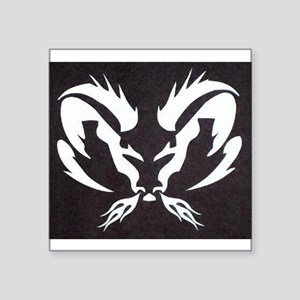 "Dodge Ram Square Sticker 3"" x 3"""