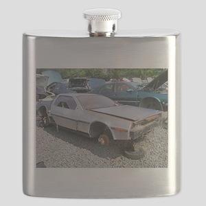 Junkyard_Delorean Flask