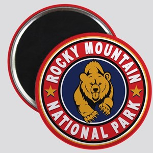 Rocky Mountain Red Circle Magnet