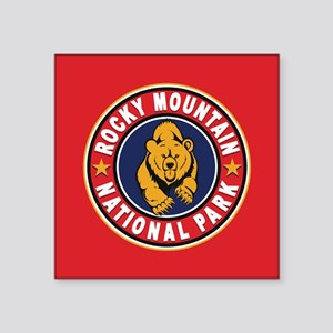 """Rocky Mountain Red Circle Square Sticker 3"""" x 3"""""""