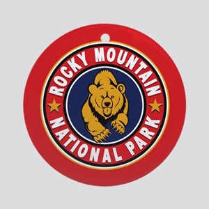 Rocky Mountain Red Circle Ornament (Round)