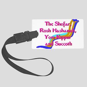 Rosh Hashanah Shofar Large Luggage Tag