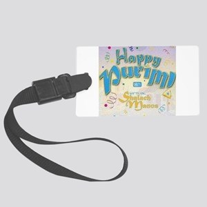 Happy Purim Large Luggage Tag