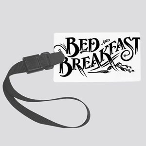 bED bREAKFAST Large Luggage Tag