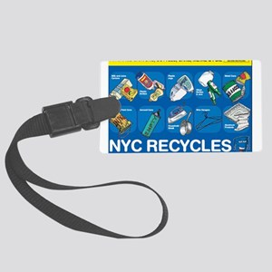 NYC Recycles Large Luggage Tag