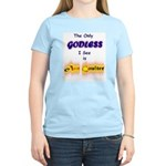 Who you calling Godless? Women's Pink T-Shirt